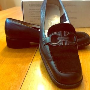 Salvatore Ferragamo Loafers Black suede/leather 8